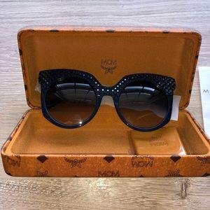 MCM blue acetate sunglasses